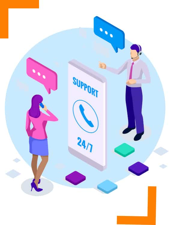 contact for support 24/7