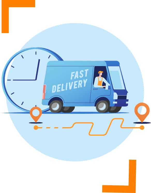 fast delivery to and fro Birmingham