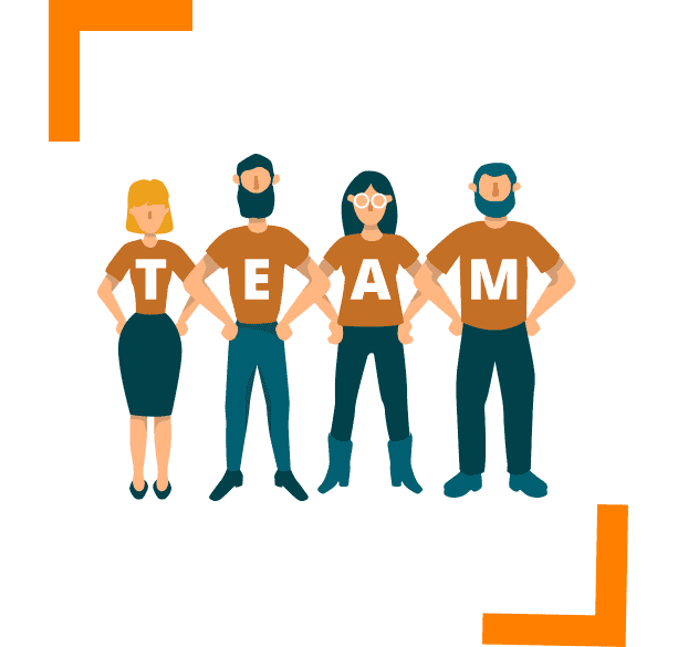 illustration of people for team work for courier operations